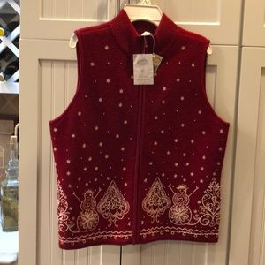 Embroidered Christmas Vest